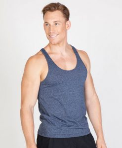 Mens Marl T-back Singlet