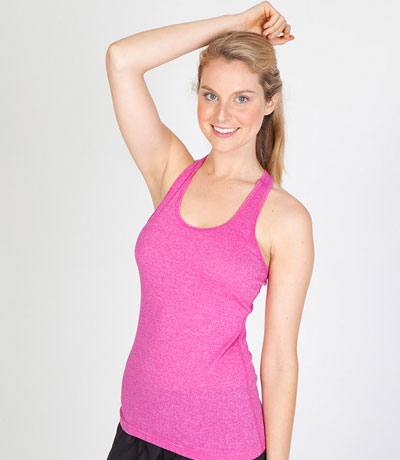 Womens Marl T-Back Singlet
