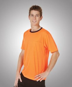 Mens Hi Vis Cool Dry Work Tee with Pocket