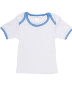 Baby Tee Short Sleeve - White/Sky, 0