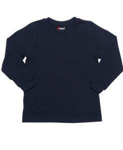 Kids Long Sleeve Tee - Navy, 4