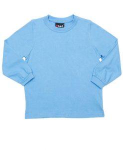 Kids Long Sleeve Tee - Sky Blue, 4