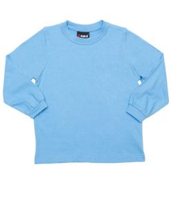 Kids Long Sleeve Tee - Sky Blue, 6