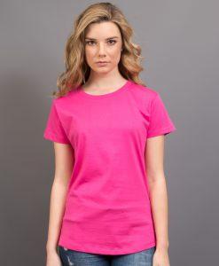 Ladies Retailer Tee - Hot pink, 6