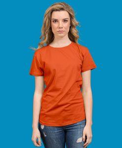 Ladies Retailer Tee - Orange, 8