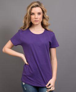 Ladies Retailer Tee - Purple, 8