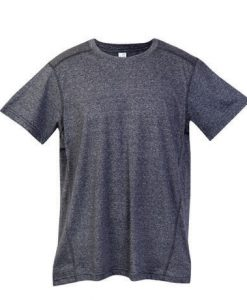 Mens Action 130 Tee - Charcoal Marle, Small