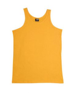 Mens Jersey Singlet - Gold, Small