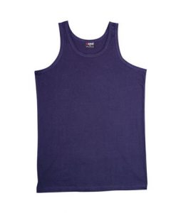 Mens Jersey Singlet - Navy, Medium