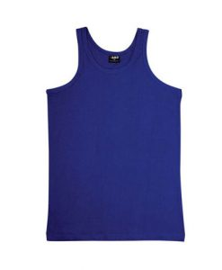 Mens Jersey Singlet - Royal, Medium
