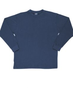 Mens Long Sleeve Tee - Navy, Large