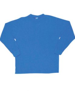 Mens Long Sleeve Tee - Royal, XXL