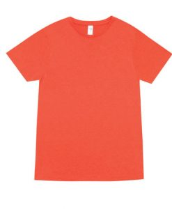 Mens Marl Blend T-Shirt - Coral Red, Large