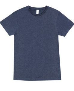 Mens Marl Blend T-Shirt - Navy, Medium