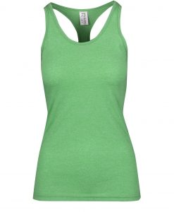 Womens Marl T-Back Singlet - Emerald Green