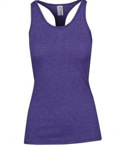 Womens Marl T-Back Singlet - Grape