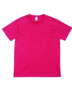 Mens Marl T-Shirt - Red Marl, Large