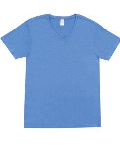 Mens Marl Vee Tee - Sky Blue, Large