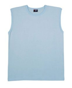 Mens Muscle Tee - Ice Blue, XXL