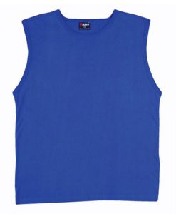 Mens Muscle Tee - Royal Blue, XXL
