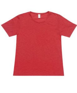 Mens Raw Tee - Red, Large