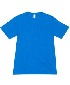 Mens Raw Vee Tee - Azure, Large