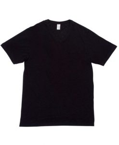 Mens Raw Vee Tee - Black, Small
