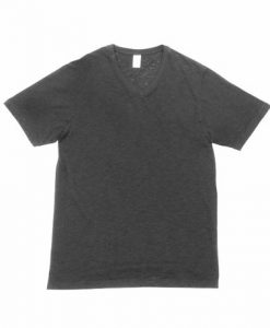 Mens Raw Vee Tee - Charcoal, Large