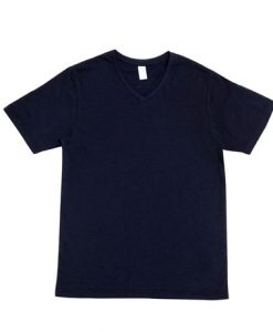 Mens Raw Vee Tee - Navy, XL