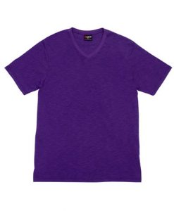 Mens Raw Vee Tee - Purple, Large