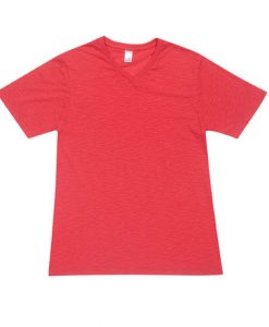 Mens Raw Vee Tee - Red, Large