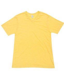 Mens Raw Vee Tee - Yellow, XXL