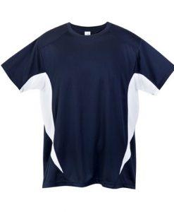 Mens Sports Tee - Navy/White, XXL