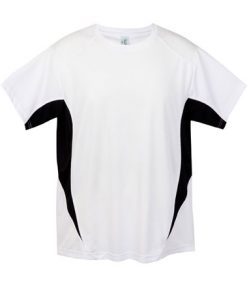 Mens Sports Tee - White/Black, 3XL