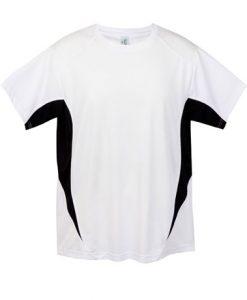 Mens Sports Tee - White/Black, XL