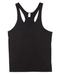 Mens T-back Singlet - Black, XL