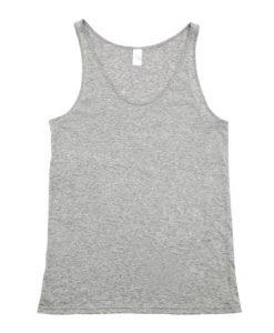 Mens T-back Singlet - Grey Marle, Medium