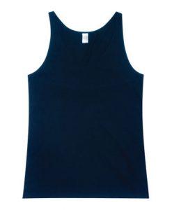 Mens T-back Singlet - Navy, XL