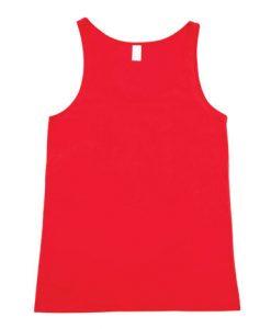 Mens T-back Singlet - Red, Medium