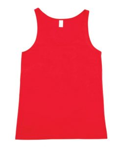 Mens T-back Singlet - Red, Small
