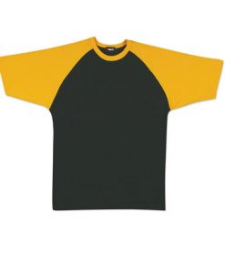Mens Two Tone Tee - Black/Gold, XL