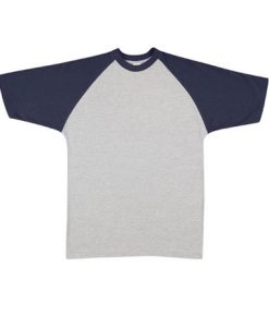 Mens Two Tone Tee - Grey/Navy, Large
