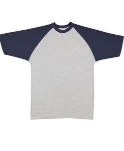 Mens Two Tone Tee - Grey/Navy, XXL