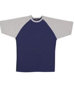 Mens Two Tone Tee - Navy/Grey, Large