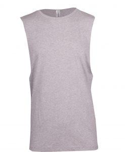 Muscle Tee - Deep cut - Grey Marle, XL