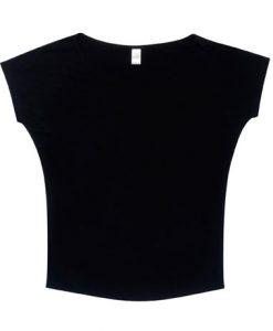 Womens Batwing Tee - Black, 8