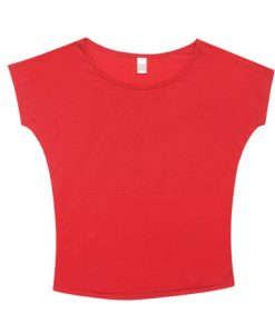 Womens Batwing Tee - Red, 10