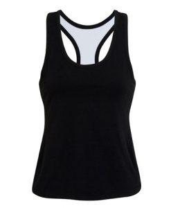 Womens Brassiere Singlet - Black, 8