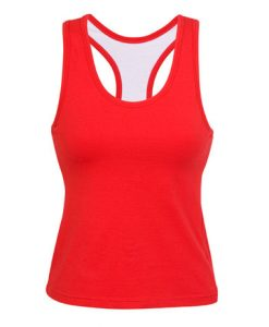 Womens Brassiere Singlet - Red, 12