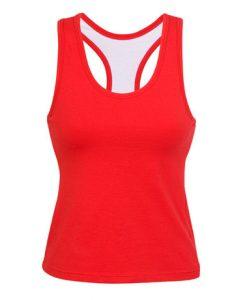 Womens Brassiere Singlet - Red, 8